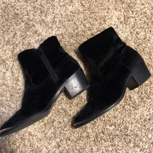 F21 suede booties/ buy one get one free